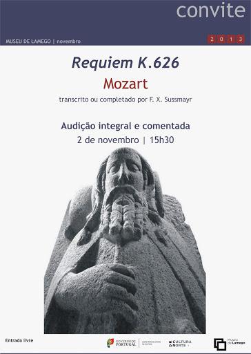 """""""Requiem"""" de Mozart em destaque no Museu de Lamego"""