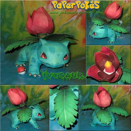 Pokemon Ivysaur Papercraft
