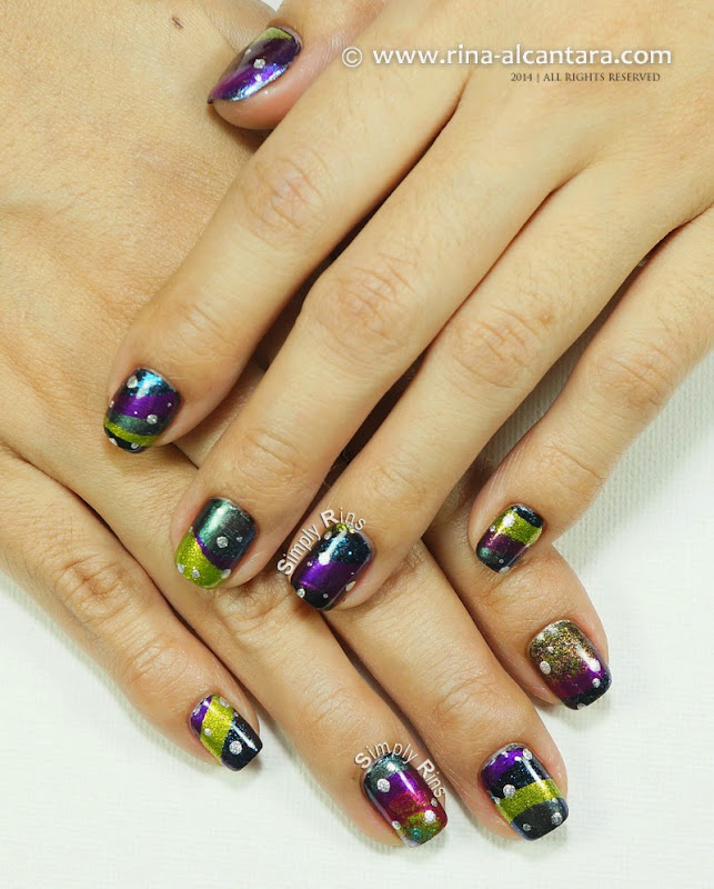 Fantastical New Year Nail Art Design by Simply Rins