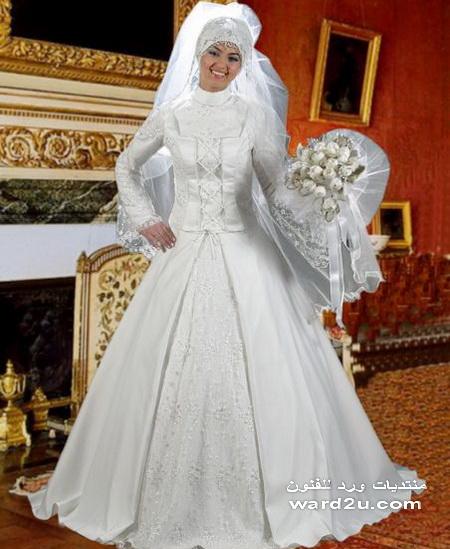 فساتين زفاف روعه للمحجبات