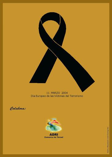 Contraportada Revista Pancrudo nº 8 (2004). Luto por el atentado terrorista del 11 de marzo de 2004