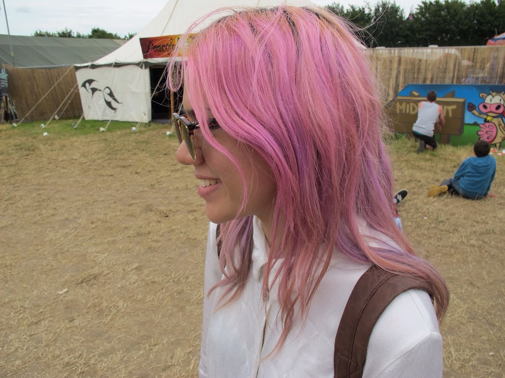 Pink and purple hair!