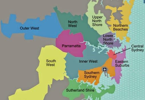 悉尼区域划分