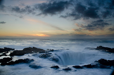 thor's well at dusk