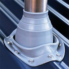 Useful roof penetration boot for wire think