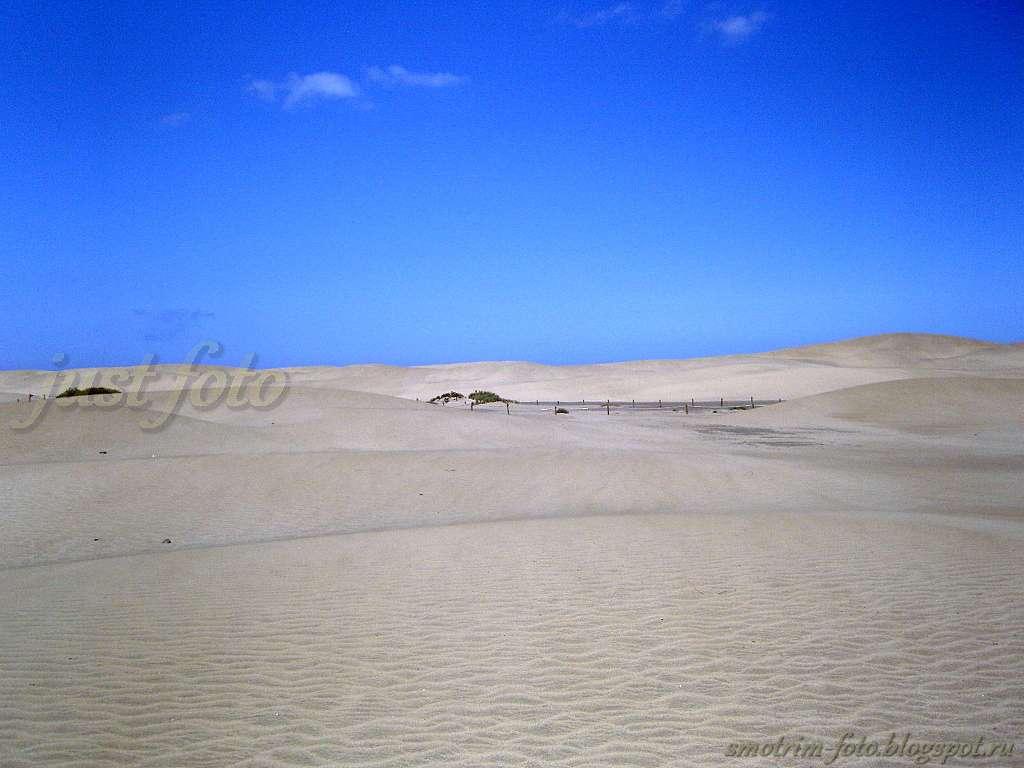 Песчаные дюны острова Гран Канария фото