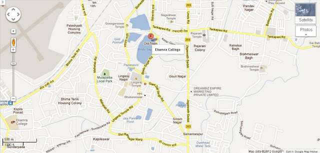 Ekamra College Bhubaneswar Area Map