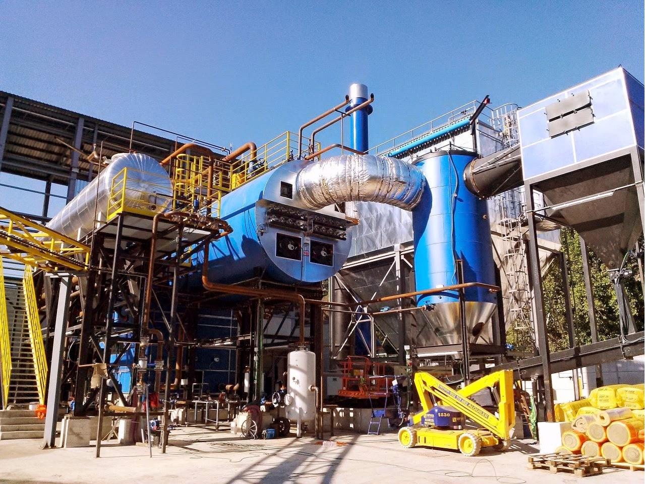Caldera Danstoker de biomasa en Papelera La Alquería. Por LSOLE