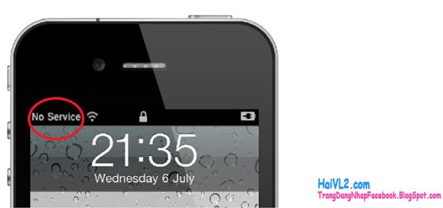 nguyên nhân và cách khắc phục iphone bijmaats sóng, no service
