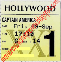 Captain America: The First Avengers Movie Ticket