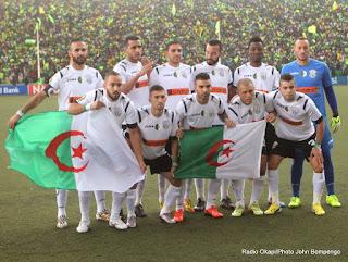 L'Entente sportive de Sétif d'Algérie le 26/10/2014 au stade Tata Raphaël de Kinshasa lors de la finale aller de la Ligue de champions de la Caf contre Vita club de la RDC, score nul : 2-2. Radio Okapi/ Ph. John Bompengo