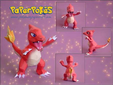 Pokemon Charmeleon Papercraft v3