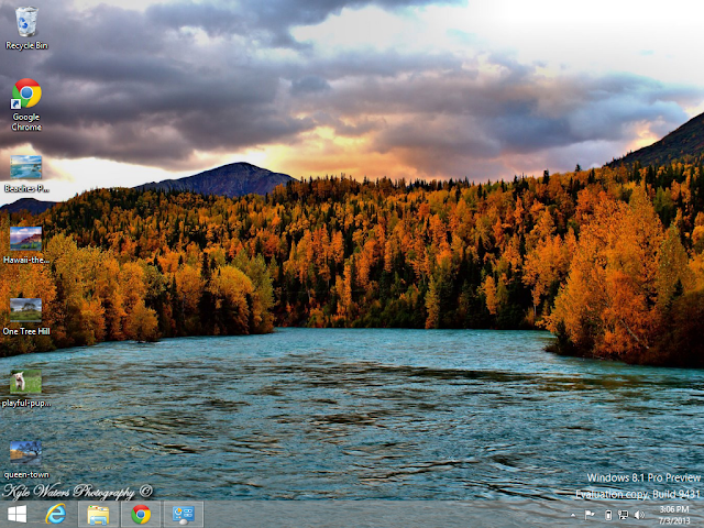 Alaskan Landscape Theme in Windows 8.1