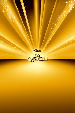 Disney Gold Graphic Wallpaper For iPhone
