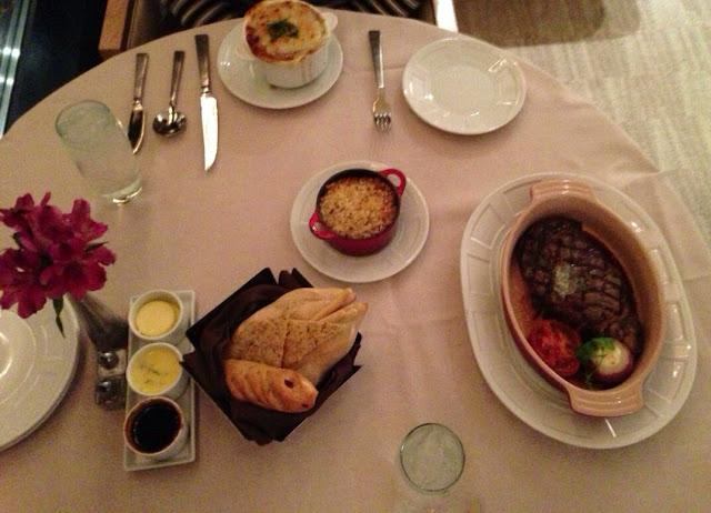 Encore Room Service Steak Dinner