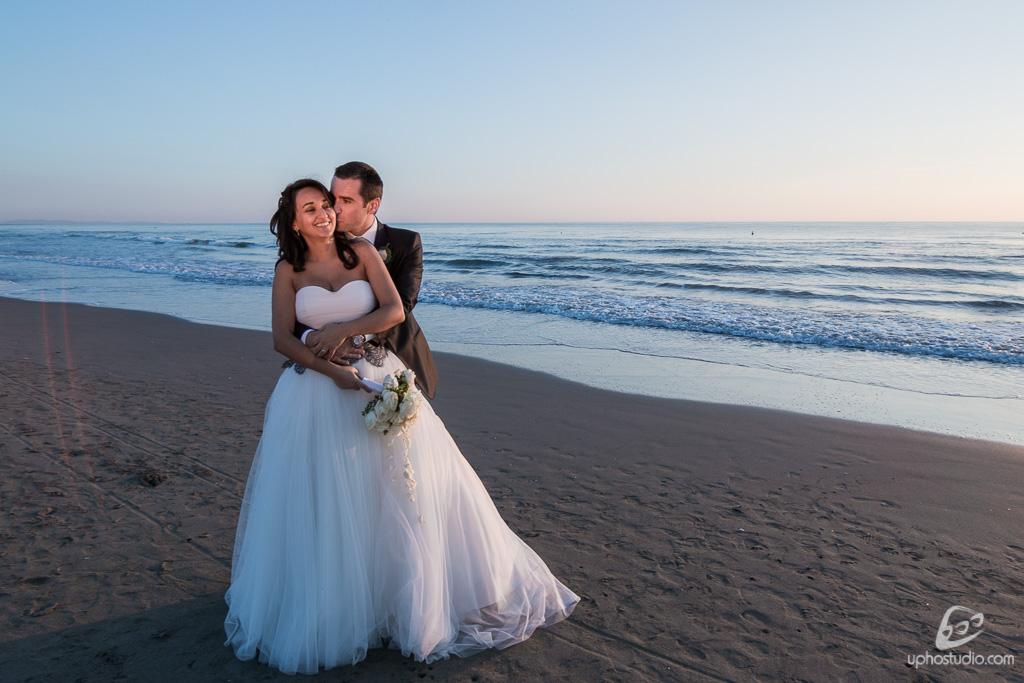 Fotografia matrimonio tramonto mare