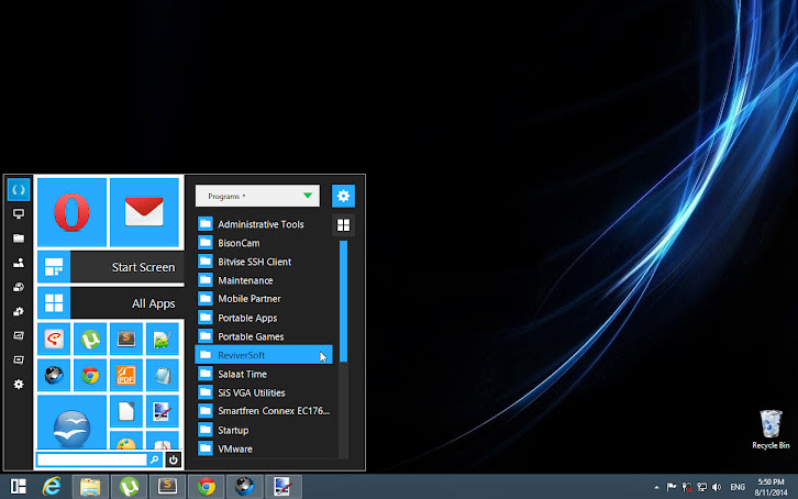 Start Menu Reviver 2, on Windows 8.1