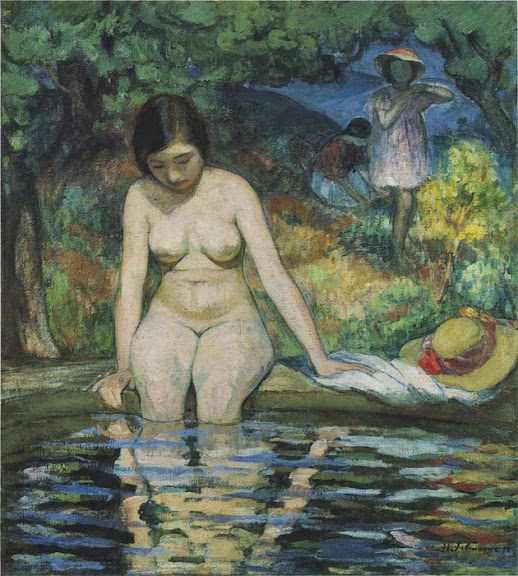 Henri Lebasque - The bather, 1910