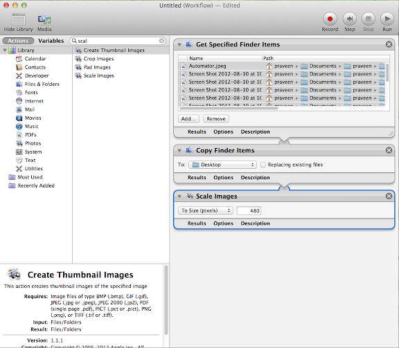 Change image size Automator mac
