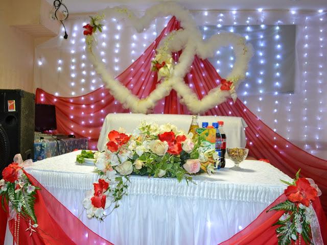 Оформление свадьбы - праздничный стол