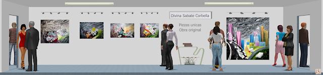 Sala de exposición virtual de pinturas de Divina Sabaté Corbella
