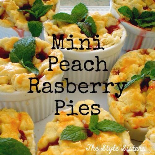 Mini peach raspberry pies, mini pies, the style Sisters