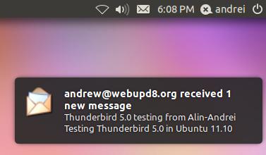 Thunderbird NotifyOSD