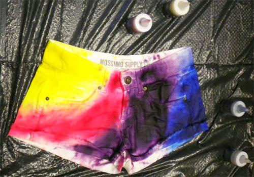 customização short arco-íris rainbow