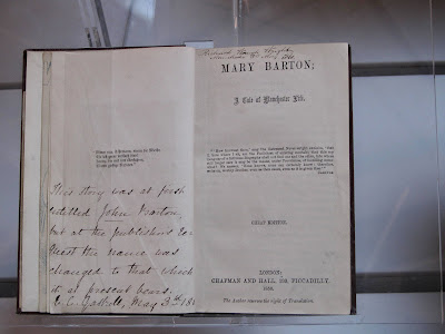 First edition of Mary Barton by Elizbeth Gaskell with inscription by the author