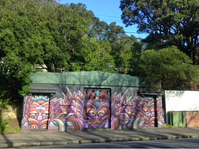 Graffiti in Kelburn, Wellington, New Zealand