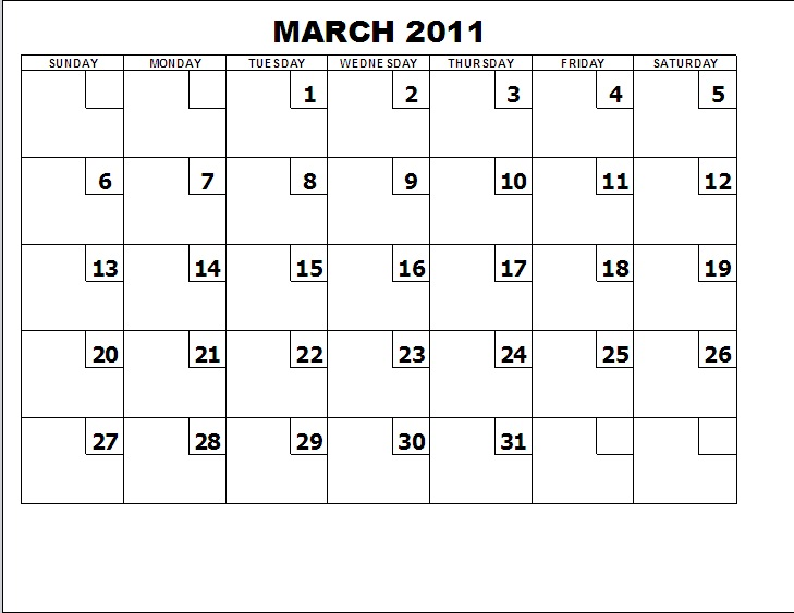 FORMS FOR FREE: Table Calendar