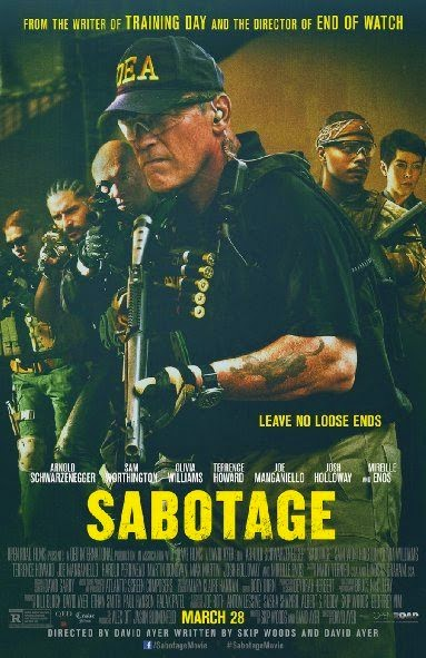 Poster Of English Movie Sabotage (2014) Free Download Full New Hollywood Movie Watch Online At alldownloads4u.com