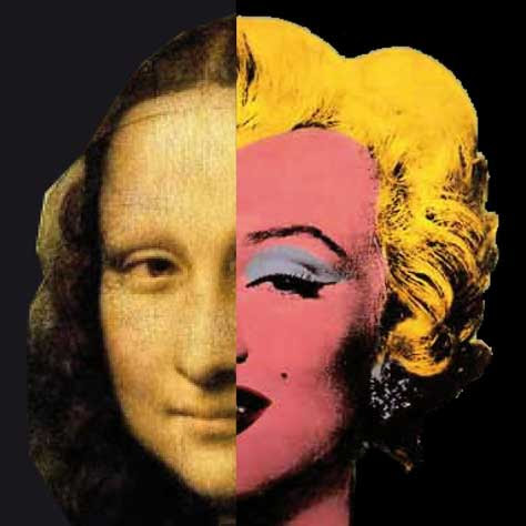 La gioconda de Leonardo Da Vinci, paradia con Marilyn Monroe
