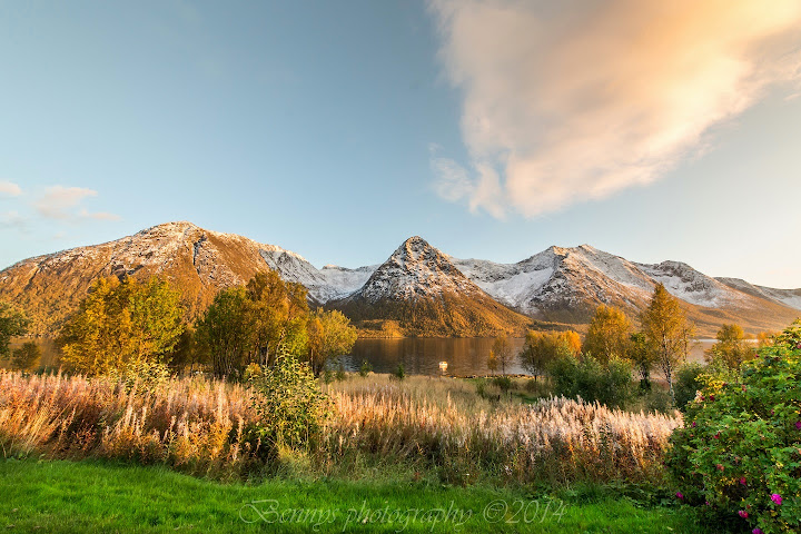 Sunsets and Fall in Vesterålen, Northern Norway. Photographer Benny Høynes