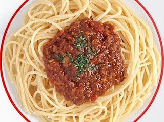 Μακαρόνια με κιμά, Spaghetti with Meat