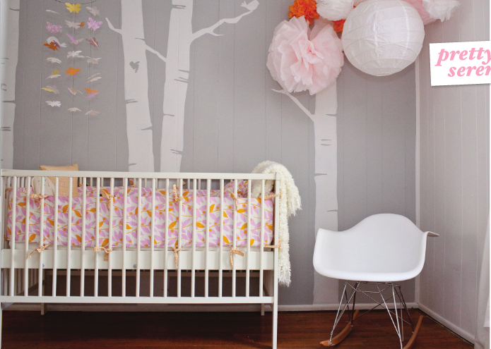 Baby Room Tree Sticker Vector