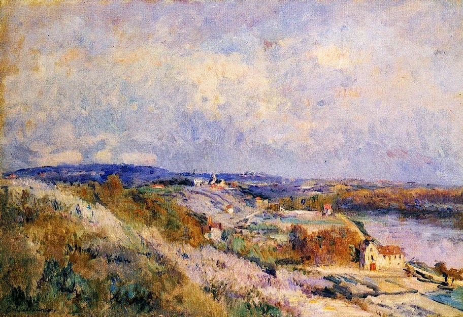 Albert Lebourg - The Hills of Herblay in Spring.