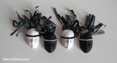 Máscaras para decorar en Carnaval.