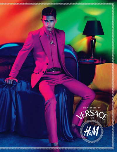 River Viiperi @ Soul by Mert & marcus for H&M X Versace F/W 2011.  Styled by Joe McKenna