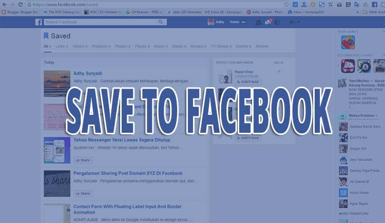 Facebook Mengikuti Google Membuat Save To Facebook