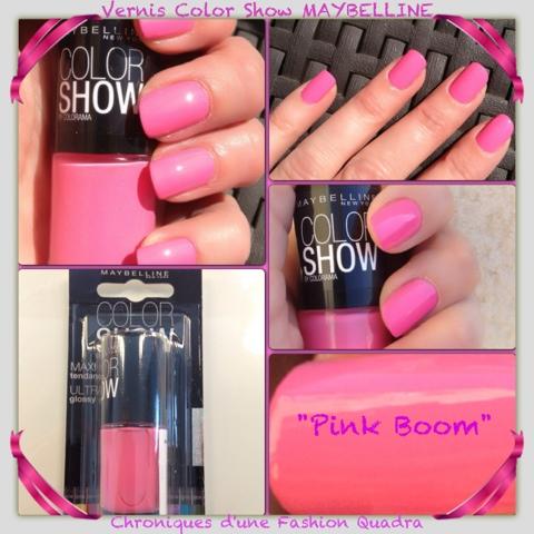 vernis facile appliquer et la couleur prend tout son clat la 2me application le pink boom est un rose barbie hyper girly qui sent bon - Vernis Color Show