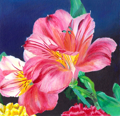 Spring Bloom acrylic painting by Anita Badami