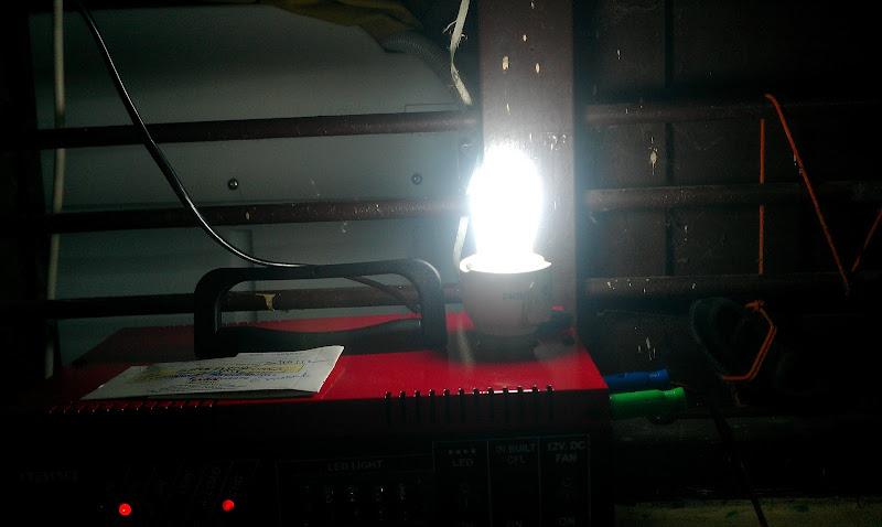 UPS ON - CFL ஒளிர்கிறது