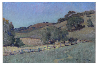 Rolling Hills with Oaks, Charles Rollo Peters (1862-1928), oil on canvas, City of Monterey Collection.