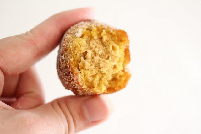 photo of a pumpkin donut hole