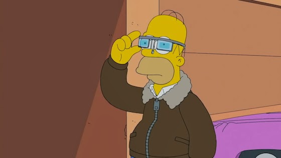 Homer Simpson Google Glass