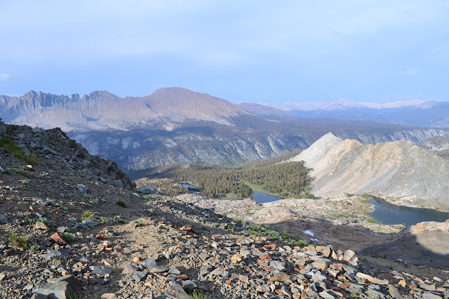 some of the Little Five Lakes as seen from Black Rock Pass
