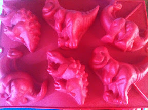 Dinosaur muffin moulds from Kmart