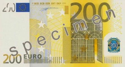 gambar uang kertas 200 euro