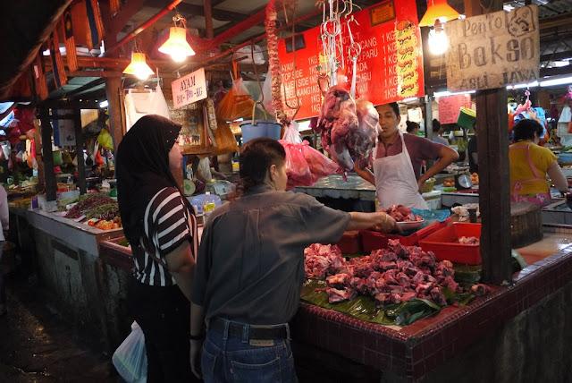 meat for sale at Bazaar Baru Chow Kit in Kuala Lumpur, Malaysia